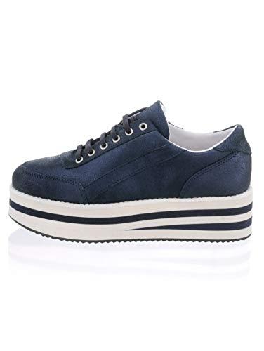 Alba Moda Sneaker mit hoher Plateausohle Marineblau