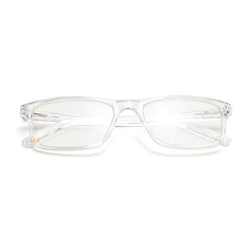Amorays Blaulicht blockierende Computerbrille Transparente Vintage rechteckige Brille mit Federscharnierrahmen für Damen Damen
