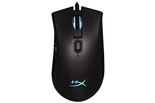 HyperX Pulsefire FPS Pro - Gaming Mouse, Software Controlled RGB Light Effects & Macro Customization, Pixart 3389 Sensor Up to 16,000 DPI, 6 Programmable Buttons, Mouse Weight 95g (Renewed)