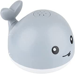 TOYANDONA Baby Whale Bath Toys with LED Light Automatic Sensing Spray Water Light up Sprinkler Bathtub Toy for Infant Kids...