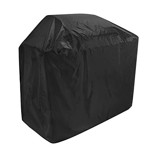 Liuduo, copertura impermeabile per barbecue 210D, in tessuto Oxford per esterni, resistente alle intemperie, antivento, copertura per griglia a gas Weber, Brinkmann, Char Broil (XL/XXL, nero)