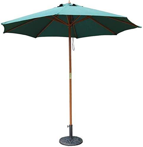 Ruinaier Houswares Sun Parasol Umbrella Garden 9ft Patio Paraguas de mesa al aire libre con polo de madera, para el mercado Jardín Yard Playa Deck Poolside Cafe Decor Sombrera (Tamaño: Off-White) Xpin