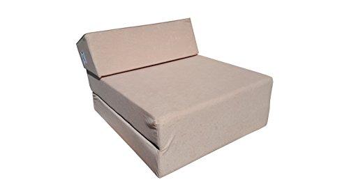 Natalia Spzoo Colchón Plegable Cama de Invitados colchón de Espuma 160 x 60 x 12 cm (1009 beige)