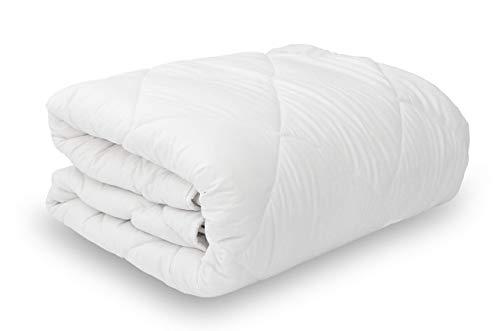 DAGOSTINO HOME - Relleno Nórdico, 400 g, Blanco, Reversible, Edredón Cama 80 90 105-(150x220 cm)
