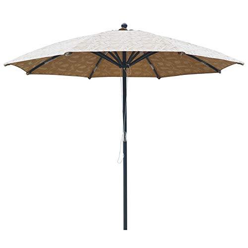 CYY Sombrilla de Jardín con Impresión Impermeable con Mástil de Aluminio y 8 Costillas,Sombrilla de Patio Exterior de Poliéster Redondo de 3.0m,para Terraza Playa Piscina Patio
