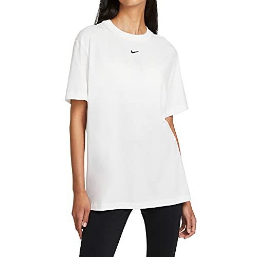 Nike DH4255-100 W NSW ESSNTL TOP SS BF T-Shirt Womens White/(Black) M