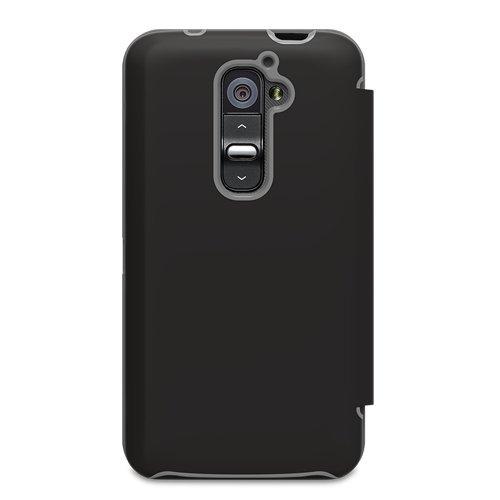 PureGear Fabfolio Wallet Case for LG G2 - Retail Packaging - Black