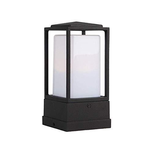 HLR Pfostenlichter für den Außenbereich wasserdichte Säule Lampe Außen Minimalist Pfosten Licht Rasen-Garten-Landschaft Lampen Garten Villa Außenbeleuchtung