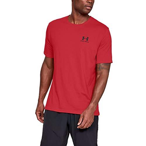 Under Armour Herren Sportstyle Logo Tank sportliches Muskelshirt aus superweichem Stoff, ärmelloses Sportshirt mit loser Passform, Red / Black, XL