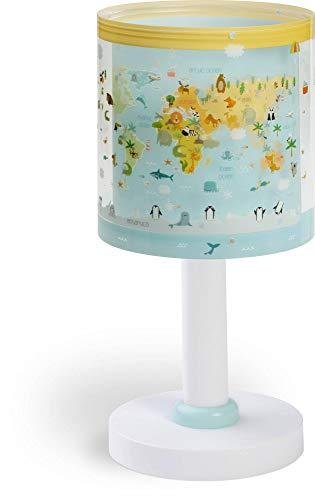 Dalber 40721 A++ to C, Baby World Welt Tischlampe, Plastik, E14, Mehrfarbig, 15 x 15 x 30 cm
