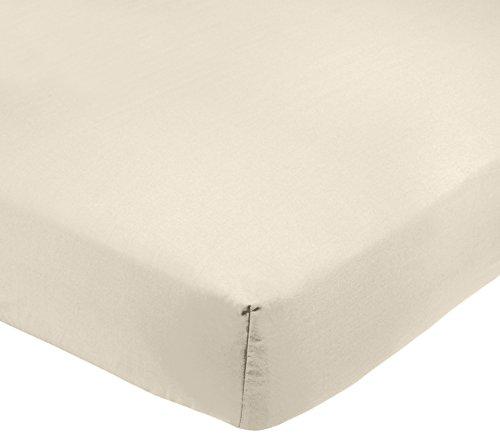 Amazon Basics AB 200TC Poly Cotton, Combinación de algodón, Crema, 90 x 190 x 30 cm