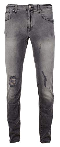 Armani Exchange Men's J13 Slim Fit 5 Pocket Jean-GD-30R Grey Denim Armani Five Pocket Jeans