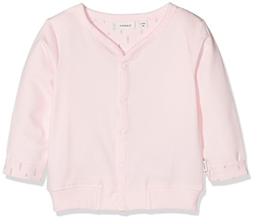 Name It Nbndelimo SWE Card Unb Noos Veste Sweat, Rose (Ballerina), 74 Mixte bébé