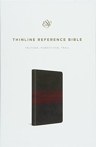 ESV Thinline Reference Bible (TruTone, Forest/Tan, Trail Design)