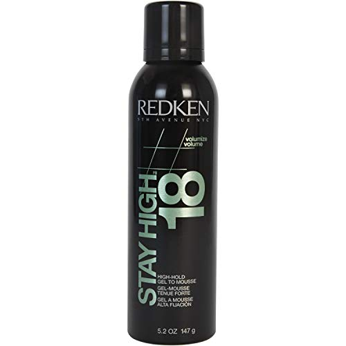 REDKEN Stay High 18 High-Hold Gel To Mousse | For All Hair Types | Provides Long-Lasting Volume & Body 150 ml