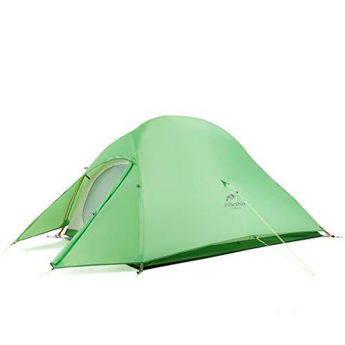 Naturehike公式ショップ テント 2人用 アウトドア 二重層 超軽量 4シーズン 防風防水 PU4000 キャンピング プロフェッショナルテント(専用グランドシート付) (グリーン(210Tアップグレード版))