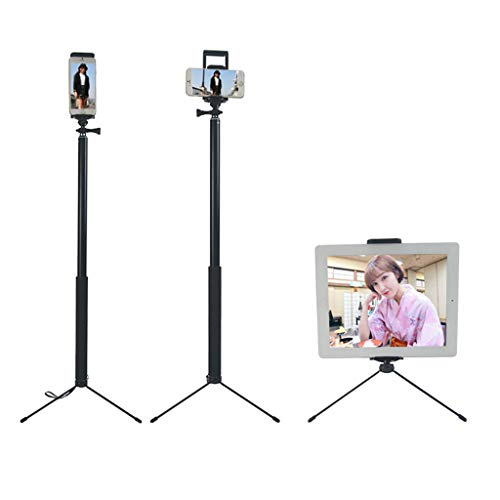 gszfsm001 - Trípode extensible para iPhone iPad DSLR y Android GoPro, 1,5 m y 2 m