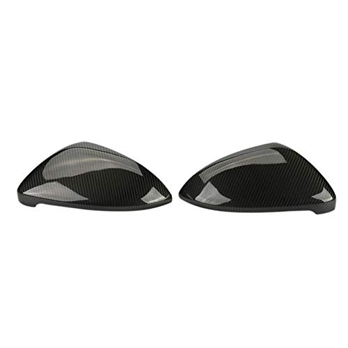 SAXTZDS Cubiertas de Espejo retrovisor de Coche de Fibra de Carbono Tapas de Espejo de ala Lateral, para VW Golf 7 MK7 7.5 GT I R-Line