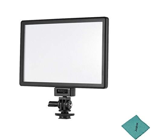 Andoer Viltrox L116T Profesional Ultra Delgado LED Luz Video Fotografía Ajustable Brillo y Temperatura Max Brillo 987LM 3300K-5600K CRI95+ para Cámara