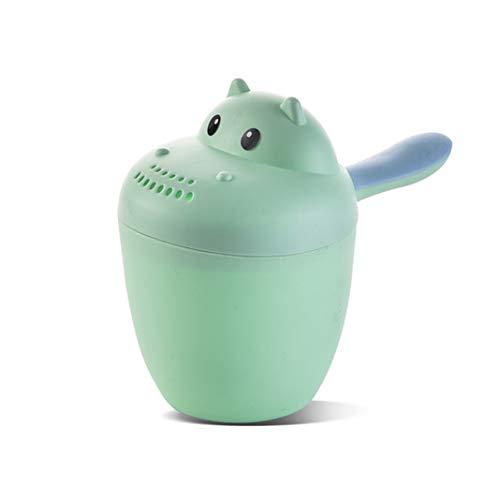 Baby Bath Cup Champú, vaso de enjuague, cuchara de agua, cuchara de ducha, champú Rinser, champú hippo, color verde