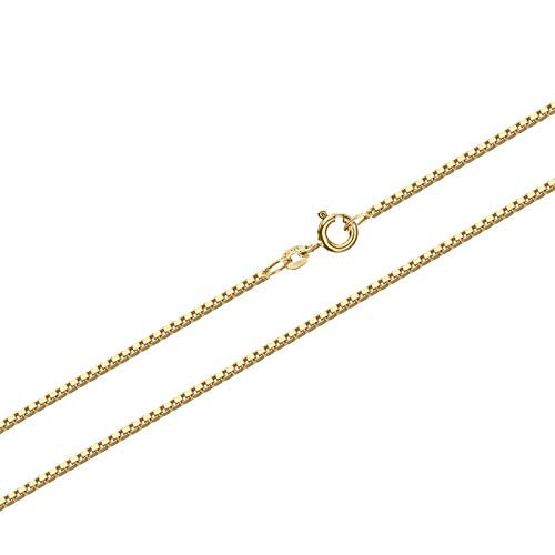 NKlaus 38cm Venezia Goldkette 0,6mm 585 Gelbgold 14 Karat Venezianerkette 1,00g Kette 9341