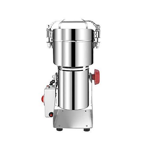 YANGTAO Molino De Harina Cocina, Molinillo De Alta Velocidad En Polvo Máquina De Vibración De Tipo Pulverizador Picadora De Granos De Polvo A Base De Hierbas Máquina Amoladora Miller,Plata