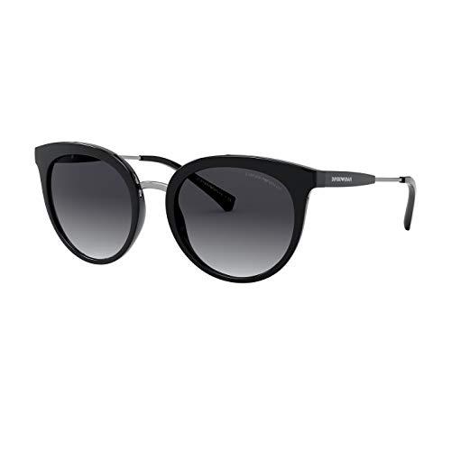 Emporio Armani 0EA4145 Occhiali, Black/Grey Shaded, 53/20/145 Donna