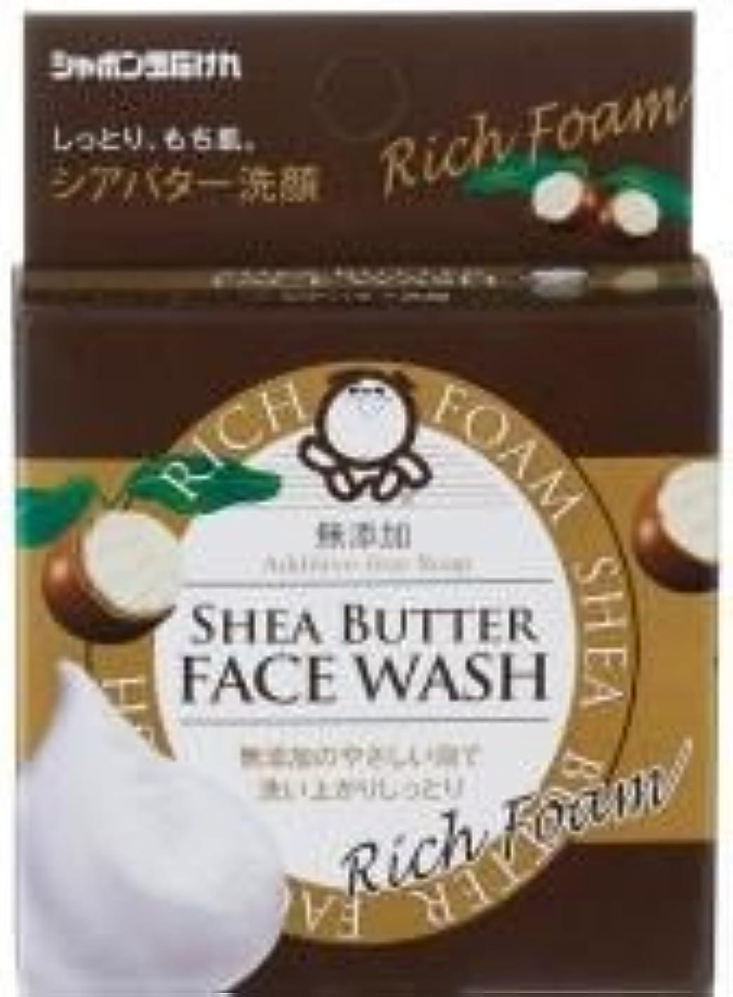 暖かく舌最初にシャボン玉シアバター洗顔せっけん60g ※2個セット