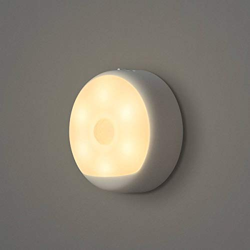 Yeelight Motion Sensor LED Light, Rechargable Night Light, Closet, Hanging 3 Way Installation, Lithium Battery Powered, 120 Day use per Charge, Magnetic, 2700K Warm White