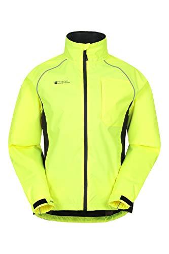 Mountain Warehouse Adrenaline Wasserfeste Fahrradjacke für Herren - Reflektierender Herrenmantel, atmungsaktiver Unisex-Regenmantel - Für Laufen und Gehen Gelb Large