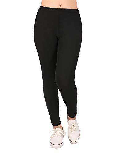 HDE Lindas Leggings para niña con diseños estampados - Medias cómodas hasta el tobillo, Negro, 7-8