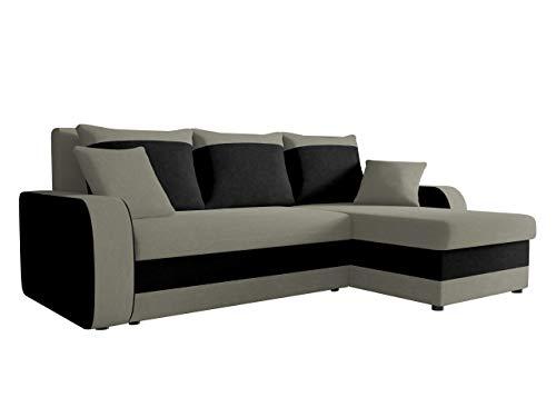 Ecksofa Kristofer, Design Eckcouch Couch! mit Schlaffunktion, Zwei Bettkasten, Farbauswahl, Wohnlandschaft! Bettfunktion! L-Form Sofa! Seite Universal! (Mikrofaza 0014 + Mikrofaza 0015.)