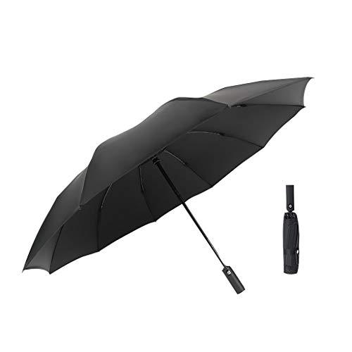 Ultra Light - Mini ombrello tascabile compatto con apertura automatica, antivento e anti UV, compatto, con pulsante di pressione e canale di vento testato, a, S