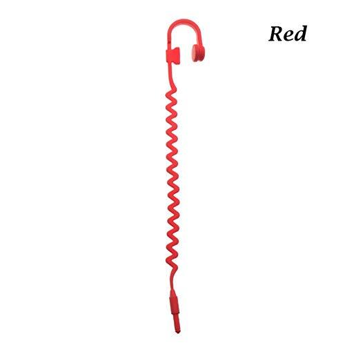 Piero koptelefoon bladwijzers siliconen muziek koptelefoon bladwijzer grappige student school briefpapier kinderen cadeau bladwijzer, rood