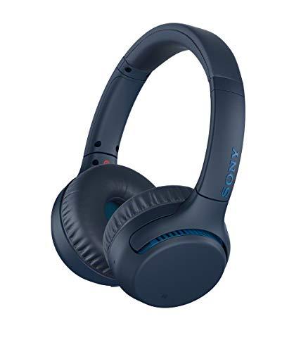 Sony WHXB700L.CE7 - Auriculares Inalámbricos Extra Bass (Bluetooth, NFC, 30 Horas de Batería, Carga Rápida, Manos Libres, Estilo de Auricular On-Ear) Azul, Talla Única, con Alexa integrada