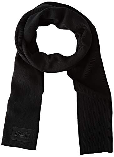 Superdry Mens ORANGE Label Fashion Scarf, Black, Einheitsgröße