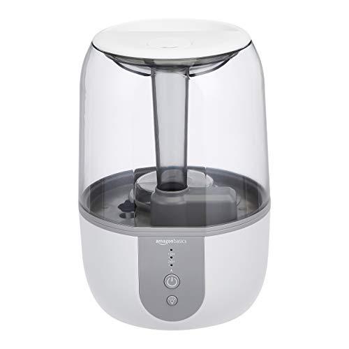 AmazonBasics Humidifier with Smart Auto-Humidification, Aroma Diffuser and Nightlight - 4-Liter, White