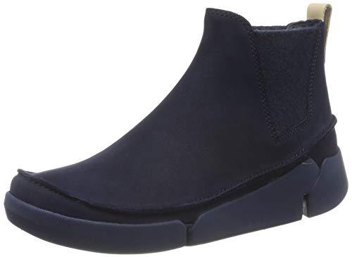 Clarks Damen Tri Poppy_Sneaker Niedrig, Blau (Navy Combi), 37.5 EU