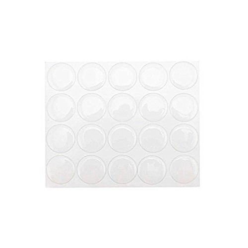 """yueton Pack of 100 Clear 1"""" Round Craft Bottle Caps Epoxy Self Adhesive Stickers for Hair Bows, Pendants,Scrapbooks"""