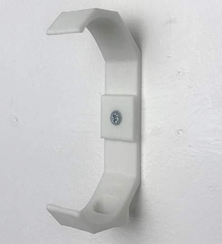 Google Home Mini - Soporte de Pared (2 Patas) Blanco (se Puede Ocultar Debajo de estantes/armarios, etc.).