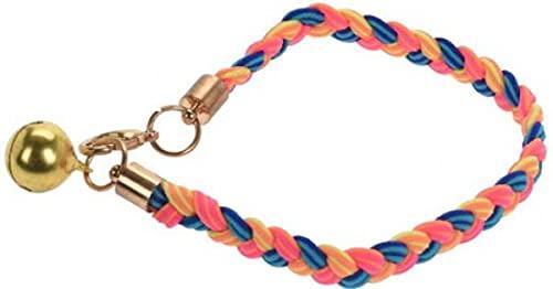 Cats Collection Collar para gato de nailon elástico, rosa, azul y amarillo