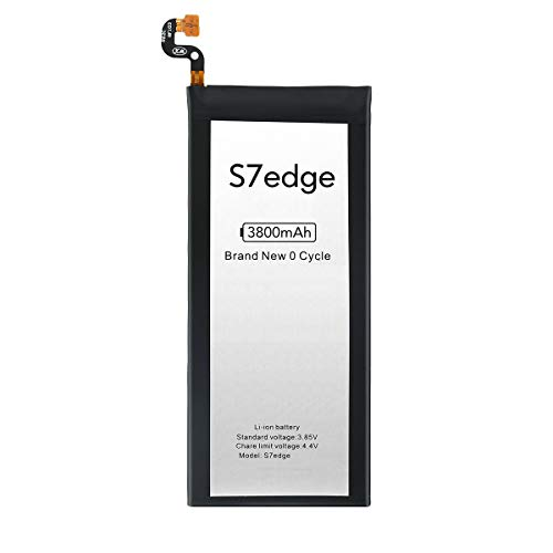 GUDTEKE Batteria per Samsung Galaxy S7 Edge G935 EB-BG935ABA Batteria agli ioni di litio migliorata con 3800 mAh di ricambio per Samsung Galaxy S7 Edge
