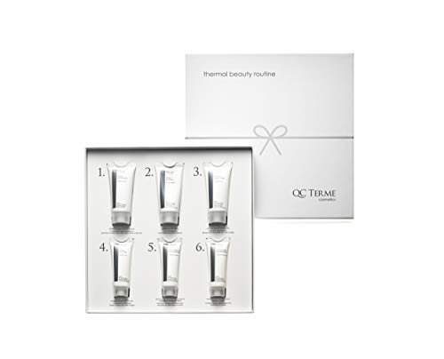QC Terme Kit per Beauty Routine con Blend di Acque Termali, Made in Italy, Senza Parabeni, Petrolati e Siliconi, Elegante Cofanetto Regalo, Kit Cosmetico in Confezione Regalo