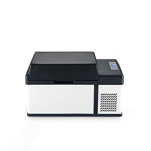 HDZ-ZWJ Refrigerador de automóviles de Acero Inoxidable, pequeño refrigerador for el hogar y el automóvil, refrigerador portátil de Prensa, contenedor de refrigeración multifunción, Diseño súper delg