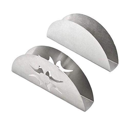Dorime Fan-Sitz-Restaurant Serviette Box aus rostfreiem Serviettenhalter Papierrollenhalter Stahl Western-Stil Küchenhelfer
