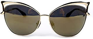 Women cat-eye sunglasses girl metal Cool Women Sunglasses UV Protect Sun Glasses