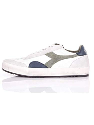Diadora Heritage, Herren, B. Original H Leather Dirty, Leder, Sneakers, Weiß, Weiß - Bianco - Größe: 41 EU