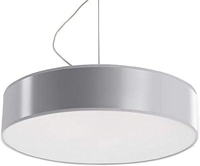 Sollux Lighting ARENA 45 - Lampada a sospensione, in PVC, colore: Argento
