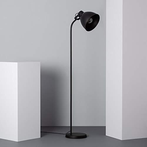 LEDKIA LIGHTING Lámpara de Pie Lembu 1650x280x280 mm Negro E27 Casquillo Gordo Metal Decoración Salón, Habitación, Dormitorio