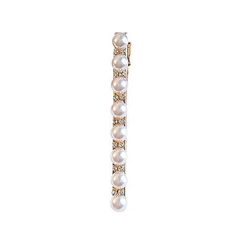 Haarnadeln/Dorical Damen Haarnadel Braut Hochzeit Haarspangen Exquisite mit Perlen Strass Headwear Styling Decor/Geburtstags Geschenk Haarschmuck für Mama Frauen Mädchen(G)